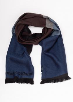 Полосатый шарф Harmont&Blaine с брендовой вышивкой, фото