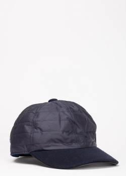 Стеганая кепка Harmont&Blaine синего цвета, фото