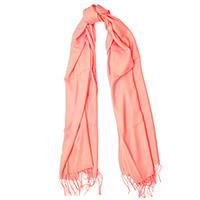 Гладкий шарф-плиссе Fattorseta с бахромой, фото