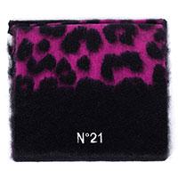 Фиолетовый шарф N21 из шерсти и мохера, фото