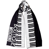 Шарф Boutique Moschino черно-белые клавиши, фото