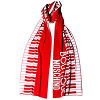 Красный шарф Boutique Moschino с брендированием, фото