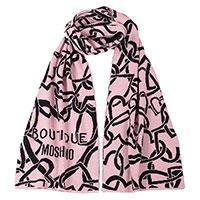 Женский шарф Boutique Moschino с брендовым лого , фото