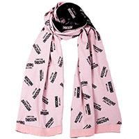 Шарф Moschino из шерсти розового цвета, фото