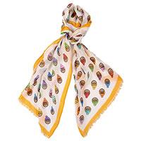 Женский шарф Moschino с фирменным принтом, фото