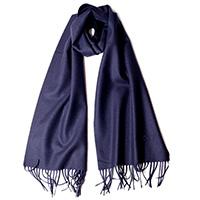 Темно-синий шарф Moschino с брендовой вышивкой, фото