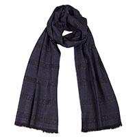 Синий мужской шарф Moschino из шерсти, фото