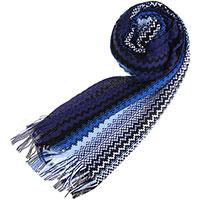Синий шарф Missoni с узорами, фото