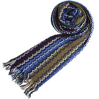 Шерстяной шарф Missoni с бахромой, фото