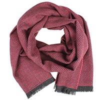 Яркий шерстяной шарф Maalbi с тонким геометрическим узором, фото