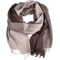 Шерстяной тонкий шарф Maalbi с геометрическим коричневым узором, фото