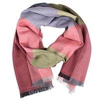 Теплый шерстяной шарф Maalbi с крупную разноцветную клетку, фото