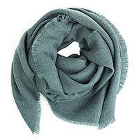 Зеленый однотонный платок Maalbi из шерсти, фото