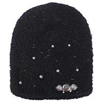Черная шапка Vizio Collezione с декором в виде камней, фото