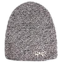 Серая шапка Vizio Collezione с камнями белого цвета, фото