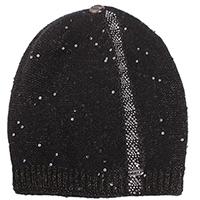 Черная шапка Vizio Collezione с декором-пайетками, фото