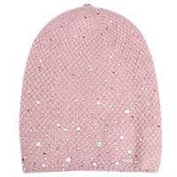 Вязаная шапка Vizio Collezione розового цвета, фото