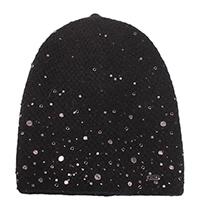 Черная шапка Vizio Collezione с декором, фото