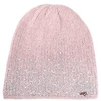 Розовая шапка Vizio Collezione со стразами, фото