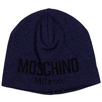 Мужская шапка Moschino темно-синего цвета, фото