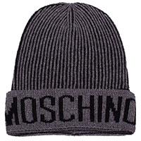Мужская шапка Moschino из шерсти в мелкую полоску, фото