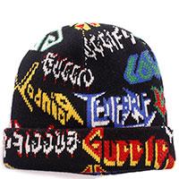 Шапка Gucci Metall Hat с принтом мультиколор, фото