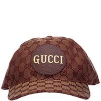 Мужская кепка Gucci в коричневом цвете, фото