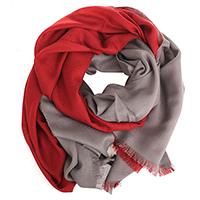Палантин Maalbi красный с серым, фото