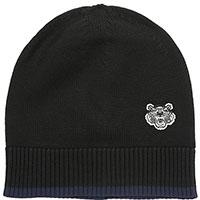 Черная шапка Kenzo с декором-эмблемой, фото