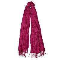 Жатый шарф-плиссе Fattorseta цвета спелой вишни, фото