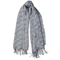 Однотонный серый шарф Fattorseta с плиссировкой, фото