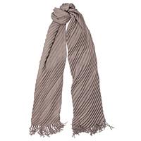 Длинный шарф-плиссе Fattorseta цвета каппучино, фото