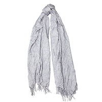 Серый шарф-плиссе Fattorseta с бахромой, фото
