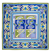 Шелковый платок Freywille с растительным орнаментом, фото