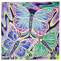 Фиолетовый платок Freywille с принтом-бабочки, фото