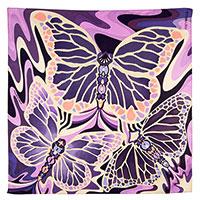 Шелковый платок Freywille с принтом розового цвета, фото