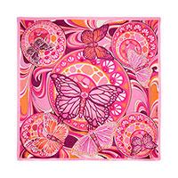 Платок из шелка Freywille с изображением бабочек, фото