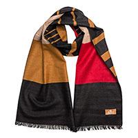 Шелковый шарф AMO Accessori с полосками, фото