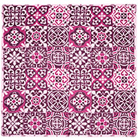 Розовый платок Amo Accessori Majolica из шелка, фото