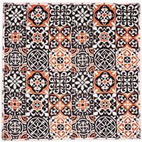 Шелковый платок Amo Accessori Majolica с геометрическим принтом, фото