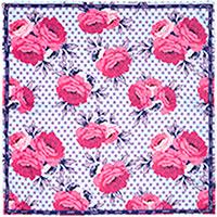 Шелковый платок Amo Accessori Peonies с принтом, фото