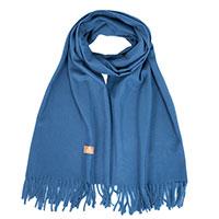 Кашемировый палантин AMO Accessori синего цвета, фото
