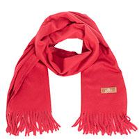 Кашемировый палантин AMO Accessori красного цвета, фото
