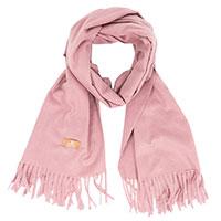 Кашемировый палантин AMO Accessori розового цвета, фото