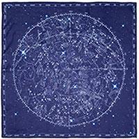 Шелковый платок Zodiac синего цвета, фото