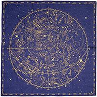 Шелковый платок Zodiac с принтом, фото