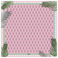 Розовый платок D.OLYA by Olga Dvoryanskaya с растительным принтом, фото