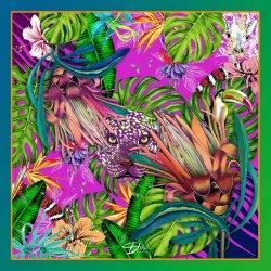 Разноцветный платок D.OLYA by Olga Dvoryanskaya из шелка, фото