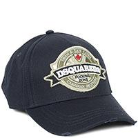 Синяя кепка Dsquared2 с вышивкой, фото