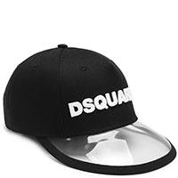 Черная кепка Dsquared2 с прозрачным козырьком, фото